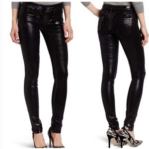 Ag Adriano Goldschmied Jeans - AG Geonetric Metallic Foil Legging skinny Jeans
